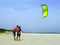 Wet Dreams Kite Instructor with a student on the beach
