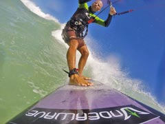 Wave kitesurfing with Underwave accessories