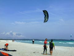Una lezione alla Wet Dreams Kite School